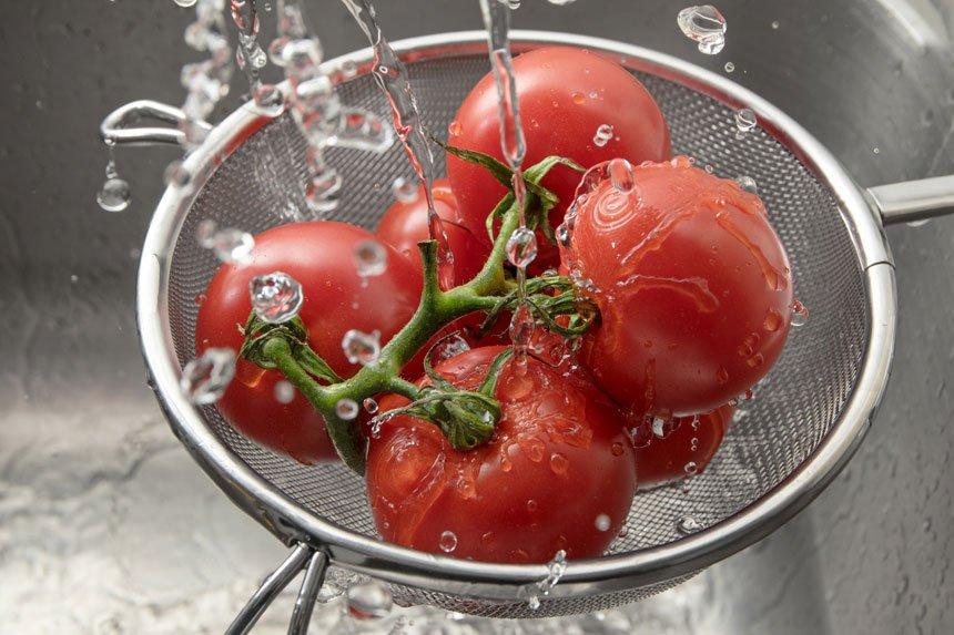 tomates lavados